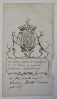 Ex-libris Armorié Français XVIIIème - Salvii De Cambefort D. De Mazie, In Supremo Galliarum Senatu Patroni - Ex Libris