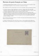 Entier Carte Lettre . Indochine 15 Cts Surchargé CANTON Et Idéogramme . Neuve . - Covers & Documents