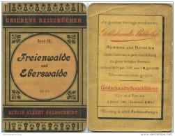 Freienwalde Und Eberswalde - 9. Auflage 1901 - 52 Seiten - Mit Zwei Karten - Brandenburg