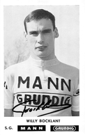 """¤¤   -  Le Coureur Cycliste Belge """" Willy BOCKLANT """" De L'Equipe  MANN  -  Dédicace      -  ¤¤ - Cycling"""