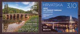 Croatia 2018 Europa CEPT, Bridges, Architecture, Set MNH - 2018