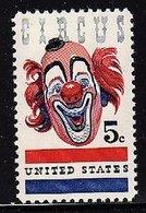 1966 USA American Circus Stamp Sc#1309 Clown - Jobs
