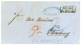 31. 12. 1864 - Schöner Auslandsbrief Nach Flensburg/Dänemark - über Hamburg Am 01. 01. 1865 - Brême
