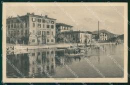 Bergamo Sarnico Lago D'Iseo Porto Con Barche Cartolina RT4106 - Bergamo