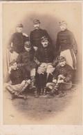 Photo Carte De Visite N° 16 - 6 Militaires - Soldat Belge - Photos
