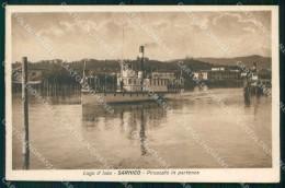 Bergamo Sarnico Lago D'Iseo Piroscafo In Partenza Cartolina RT4117 - Bergamo