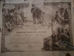 Troyes,Aube, Wannemacher Diplôme,,récompense Honorifique De La Mutualité,ministère Du Travail, 1933, - Diplomi E Pagelle