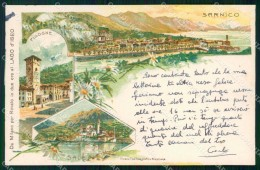 Bergamo Sarnico Gruss Lago D'Iseo Pisogne Sale COLLA Cartolina RT4130 - Bergamo
