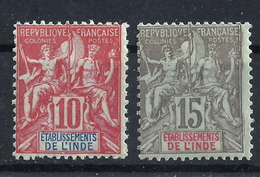 Französisch-Indien 14/15 * - India (1892-1954)