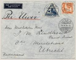 Nederlands Indië - 1934 - UIVER-vlucht Van LB MALANG/7 Naar Utrecht / NL - Nederlands-Indië