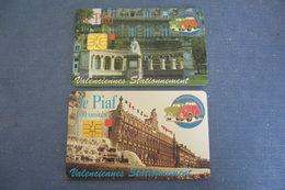 2 CARTE à PUCE / PIAF /   CARTE DE STATIONNEMENT  / VALENCIENNES - Frankrijk