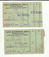 "03 . DESERTINES . TICKET DE TRANSPORTS HEBDOMADAIRE . "" DESERTINES - FORGES "" - Abonnements Hebdomadaires & Mensuels"