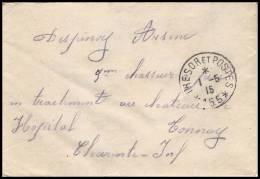 3523 Lettre France Guerre 1914/1918 Santé Hopital Tonnay (trésor Et Postes) Secteur Postal 155 1915 - Oorlog 1914-18