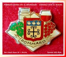 """SUPER PIN'S VIGNOBLE """"POMMARD"""" : Grand CRU De BOURGOGNE Appellation Village De La Côte De BEAUNE, 3X2,4cm - Boissons"""