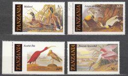 Tanzania 1986 Animals Birds Mi#315-318 Mint Never Hinged - Tanzanie (1964-...)