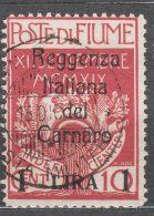 Fiume 1920 Carnaro, Sassone#143 Used, Cat. Value 50 Eur - 8. WW I Occupation