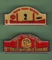 RALLYE DE VAISON LA ROMAINE *** Lot De 2 Pin's Differents *** 0036 - Car Racing - F1