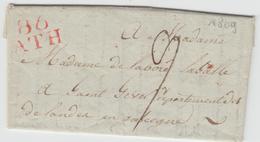 LAC 86 ATH (Rge) - 1809 - Pr St Sever (Dépt Des Landes) - TB - Postmark Collection (Covers)