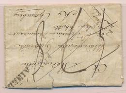 LAC Déb. 87 Gênes - Au Verso D'une LAC De Fontainebleau - 28/11/1808 - B/TB - Postmark Collection (Covers)