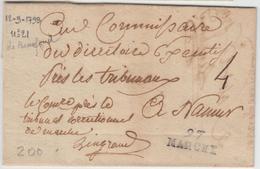 LAC 97 MARCHE - 1798 - Pr NAMUR - TB - Postmark Collection (Covers)