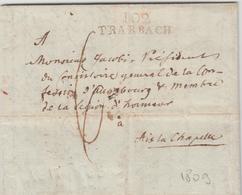 LAC 102 TRARBACH (Rge) - 1809 - Pr Aix La Chapelle - TB - Postmark Collection (Covers)