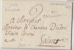 LAC 104 CARMAGNOLE - 1808 - Pr Saluces - TB - Postmark Collection (Covers)