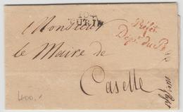 LAC 104 TURIN + Marque Préfet Dépt Du Pô - Pr Le Maire De Caselle (Torino) - Avec Signature Autographe D'Alexandre LAMET - Postmark Collection (Covers)