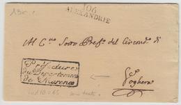 """LSC 106 ALEXANDRIE + Cachet Franchise """"Préfecture Du Dépt De MARENCO"""" - TB - Postmark Collection (Covers)"""