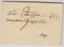 LAC 106 ASTI - 1811 - Pr Acqui - TB - Postmark Collection (Covers)