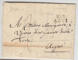 LAC 108 ASTI - 12 Mars 1804 - Pr Acqui - TB - Postmark Collection (Covers)