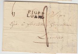 LAC P108P LOANO - 1839 - Pr Livorno - TB - Postmark Collection (Covers)