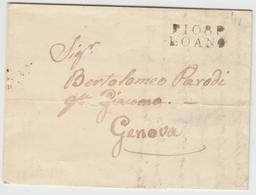 LAC P108P LOANO - 1846 - Pr Genova - TB - Postmark Collection (Covers)