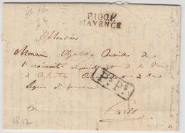 "LAC P100P MAYENCE - 1812 - Pr PARIS + ""PsPs"" - TB - Postmark Collection (Covers)"