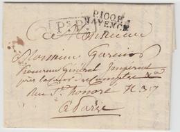 "LAC P100P MAYENCE + ""PsPs"" - 1812 - Pr PARIS - TB - Postmark Collection (Covers)"