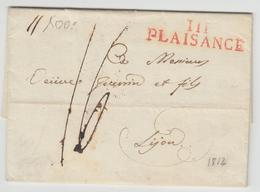LAC 111 PLAISANCE (Rge) - 1812 - Pr Lyon - TB - Postmark Collection (Covers)