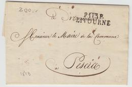 LAC P113P LIVOURNE - 1813 - Pr Pescia - TB - Postmark Collection (Covers)