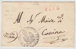 "LSC 113 PISE (Rge) - 1812 + Grd Cachet Illustré ""SOTTO PREFETTURA DI PISA"" - Pr Cascina - TB - Postmark Collection (Covers)"