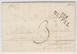 LAC 123 MEPPEL - 1812 - Pr Gromigues - Signé Pothion - TB - Postmark Collection (Covers)