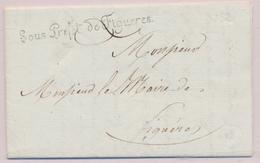 """LAC """"Sous Préfet De Figuères"""" - S/pli Daté De Juillet 1812 - Au Verso Cachet Impérial De La Préfecture - TB - Postmark Collection (Covers)"""