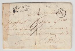 """LAC Ministre Des Cultes - An 13 - Marque """"T"""" (cerclé) - Au Verso Cachet """"Jour Complte An 13 (4) - B/TB - Postmark Collection (Covers)"""