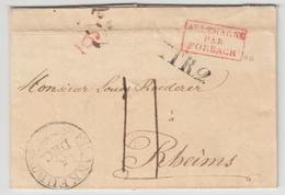LAC N°12 - Allemagne Par Forbach Rge  + Càd Frankfurt + TTR2 - Pr Reims - TB - Postmark Collection (Covers)