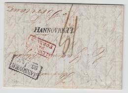 LAC N°15 - Allemagne Par Forbach Rge + Cachet Rect. Hannover (1832) - Lettre Purifiée - Pr Bordeaux - TB - Postmark Collection (Covers)