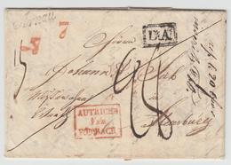 LAC N°47 - Autriche Par Forbach Rge  + Arnau + DA Encadré + Taxes - Pr Strasbourg - TB - Postmark Collection (Covers)