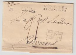 LAC N°58 - Bavière Par Forbach + Nürnberg 16/1/29 + CTR4 + Taxe - Pr Reims - TB - Postmark Collection (Covers)