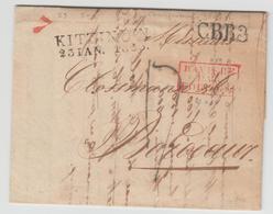 LAC N°59 - Bavière Par Forbach Rge + Kitzingen 23/1/33 + CBR3 + Taxe Bleue - Pr Bordeaux  - TB - Postmark Collection (Covers)
