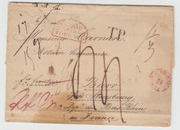 LAC N°198 - Prusse Par Forbach Rge  - Lettre De Warszawa à Barr + Taxes - B/TB - Postmark Collection (Covers)