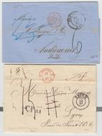 L N°1000 + 1001 - Prusse Forbach 4 Rge + Div. Cachets Et Taxes -  2 Plis - TB - Postmark Collection (Covers)