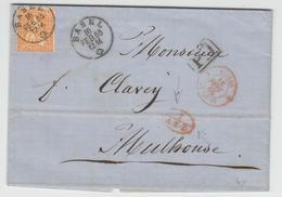 LAC N°1197 - Suisse 1 St Louis - 16/2/65 (Rge) + 7 A.E.D Rge - Pr Mulhouse - TB - Postmark Collection (Covers)