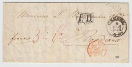 LAC N°1289 - Tour. T. Forbach 3 - 6 Fevr 53 Rge + Càd Cassel + Taxes - Pr Bordeaux - TB - Postmark Collection (Covers)