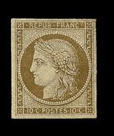 * N°1 - 10c Bistre - Signé Calves - TB - 1849-1850 Ceres